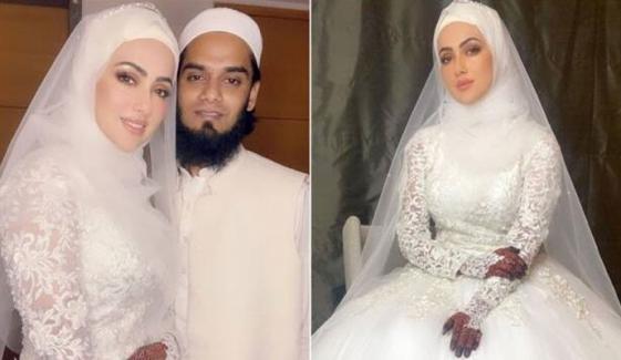 ثناء خان کی شادی کی تصاویر سوشل میڈیا پر وائرل