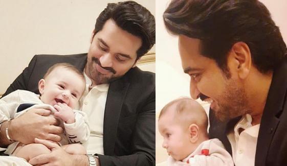 حمزہ علی عباسی کا بیٹا نہایت ہی پُرسکون بچہ ہے، ہمایوں سعید