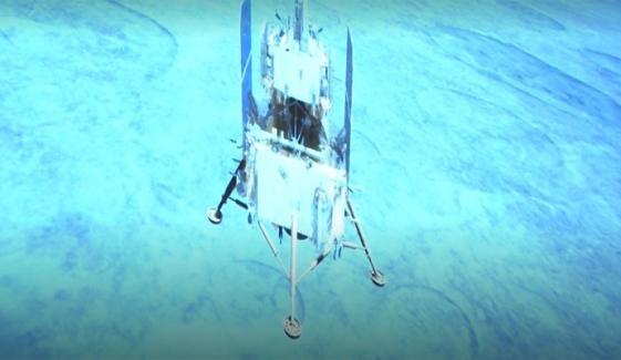 چینی روبوٹک خلائی جہاز نے چاند کی سطح سے نمونے لینا شروع کر دئیے