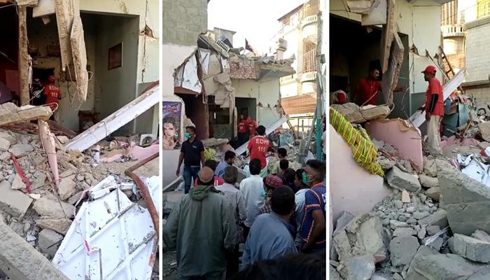 نیو کراچی میں دھماکا گیس سیلنڈر میں'جگاڑ' کی وجہ سے ہوا