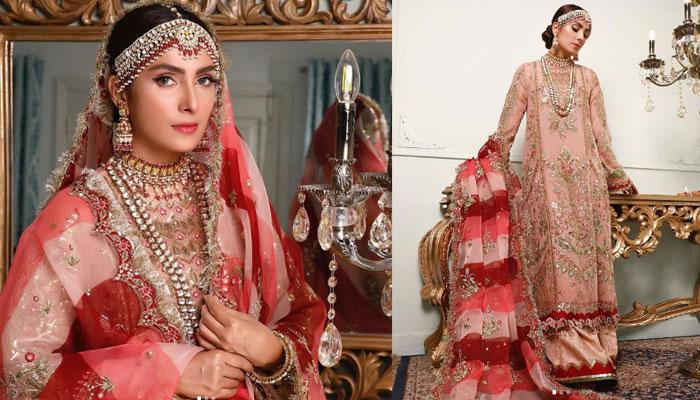 عائزہ خان کا برائیڈل لُک مداحوں کو بھا گیا