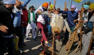 بھارت میں کسانوں کا احتجاج 10ویں روز بھی جاری