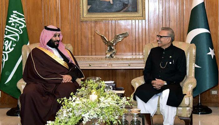 شاہ سلمان اور ولی عہد شہزادہ محمد بن سلمان کا عارف علوی کو پیغام