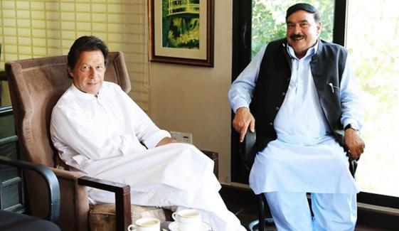 شیخ رشید کی وزیر اعظم عمران خان سے ملاقات