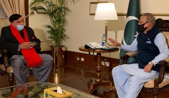 شیخ رشید کو وزیر داخلہ بنائے جانے پر صدر عارف علوی خوش