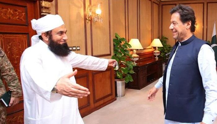 عمران خان مولانا طارق جمیل کی صحت کیلئے دعا گو