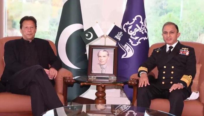 عمران خان کا نیول ہیڈ کوارٹرز اسلام آباد کا دورہ