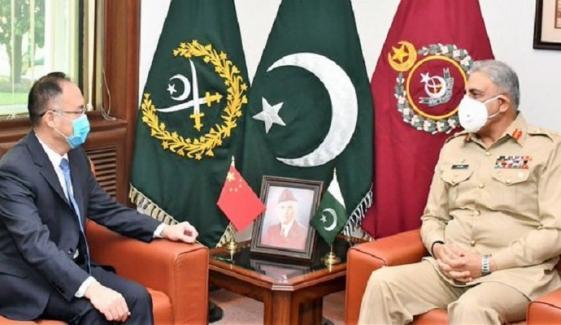 راولپنڈی: آرمی چیف سے چین کے سفیر کی ملاقات