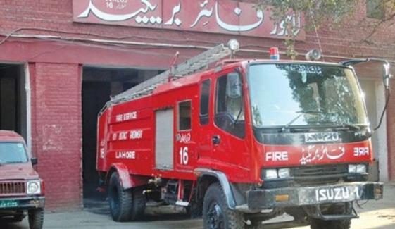 لاہور: فیکٹری میں آتشزدگی، ایک شخص زخمی