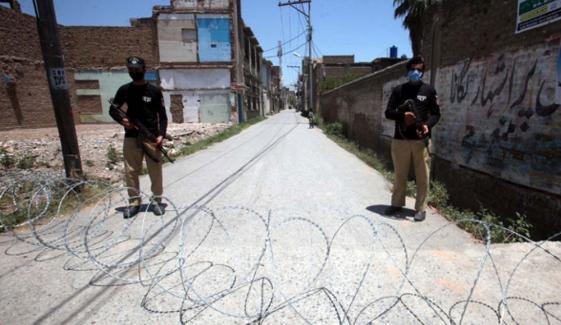 پشاور کے 4 علاقوں میں اسمارٹ لاک ڈاؤن نافذ