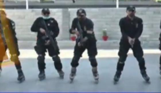سندھ پولیس: اسکیٹنگ فورس کی تربیت حتمی مراحل میں