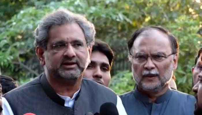 ن لیگ کے دونوں ارکان اسمبلی نے استعفے اسپیکر کو نہیں بھیجے ، شاہد خاقان عباسی