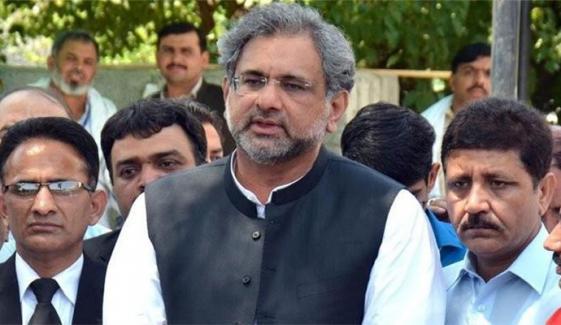 ن لیگ کے دونوں ارکان اسمبلی نے استعفے اسپیکر کو نہیں بھیجے، شاہد خاقان عباسی