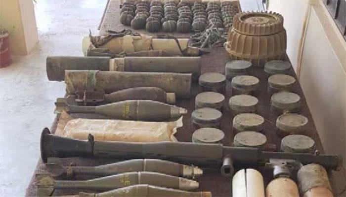 بلوچستان میں لیویز اہلکاروں کی کارروائی ، بڑی تعداد میں اسلحہ و بارود بر آمد