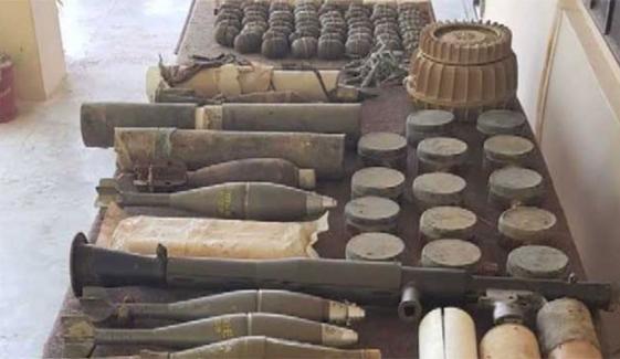 بلوچستان میں لیویز اہلکاروں کی کارروائی، بڑی تعداد میں اسلحہ و بارود برآمد