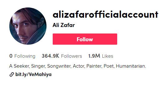 علی ظفر کی ٹک ٹاک ویڈیو کے سوشل میڈیا پر چرچے