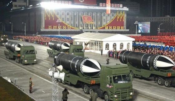 شمالی کوریا: دنیا کے سب سے طاقتور آبدوز بیلسٹک میزائل کی رونمائی