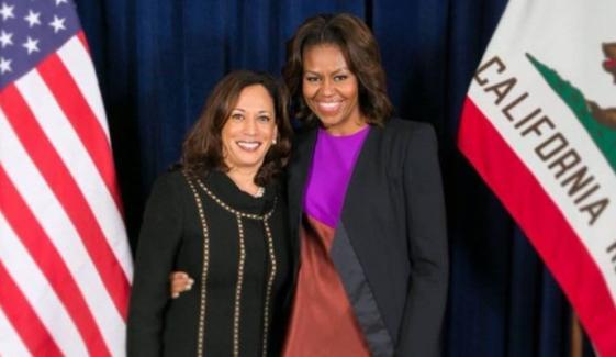 امریکا کی ترقی میں مشل اوباما کا اہم کردار ہے، کملا ہیرس