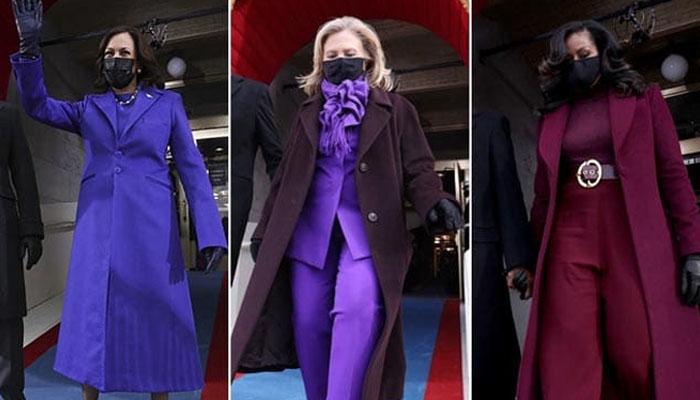 تقریب حلف برداری میں خواتین نے جامنی رنگ کا انتخاب ہی کیوں کیا؟