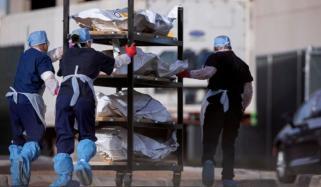 امریکا میں کورونا سے ہلاک افراد کی یاد میں تقریب