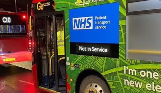 لندن کی بسوں کوعارضی ایمبولینس میں تبدیل کردیا گیا