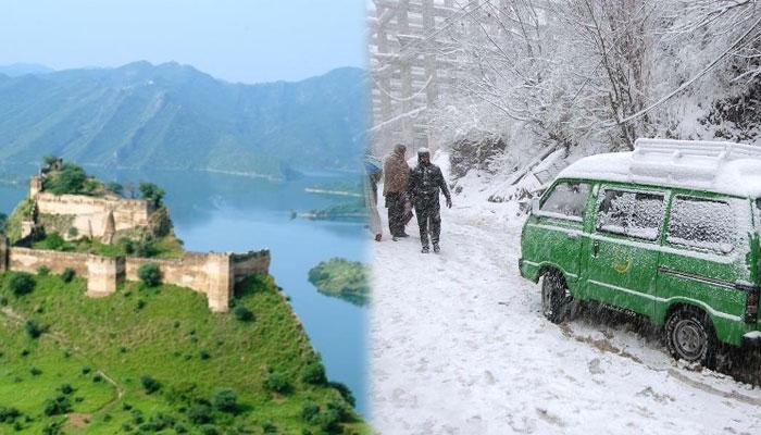 مری، مالا کنڈ میں برفباری، منگلا میں ہریالی، سیاح رخ کرنے لگے