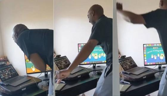 استاد کی کنڈرگارٹن کے بچوں کو ناچتے ہوئے پڑھانے کی ویڈیو وائرل
