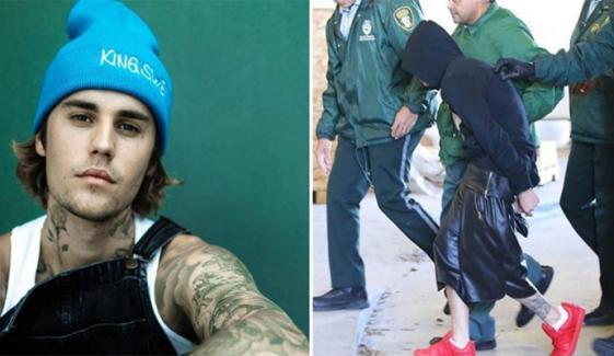 جسٹن بیبر نے اپنی گرفتاری کی تصویر شیئر کردی