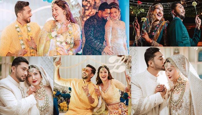 گوہر خان اور زید دربار کی شادی کو ایک ماہ مکمل