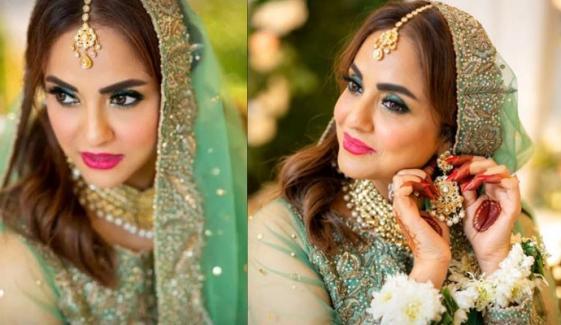 نادیہ خان نے اپنی شادی پر میک اپ خود کیا تھا؟