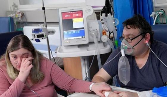 کورونا وائرس کا شکار ہونے والے جوڑے نے قرنطینہ وارڈ میں شادی کرلی