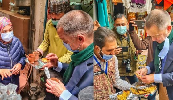 جرمن سفیر  ذائقہ دار نان خطائی اور آلو والے نان کے معترف