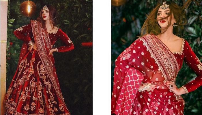 سونیا حسین سُرخ عروسی لباس میں چھا گئیں