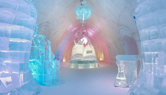 Tourists will now enjoy the icy hotel