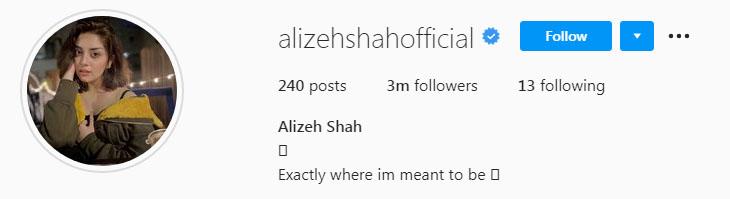 علیزے شاہ کی مقبولیت میں اضافہ
