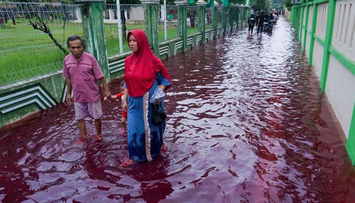 انڈونیشیا کے گاؤں میں خونی سیلاب، شہری خوفزدہ