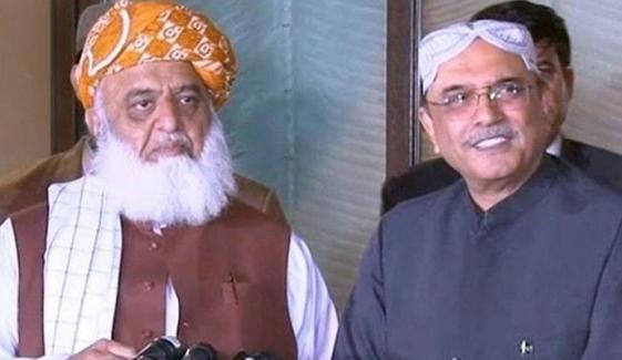 نواز شریف کے بعد مولانا اور زرداری میں رابطہ