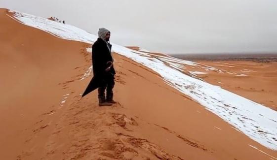 اٹلی: برف کا رنگ سرخ ہوگیا