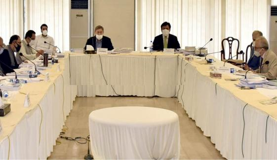 جاوید عباسی کا لسٹڈ کمپنیز سے متعلق بل، وزارت خزانہ کی مخالفت