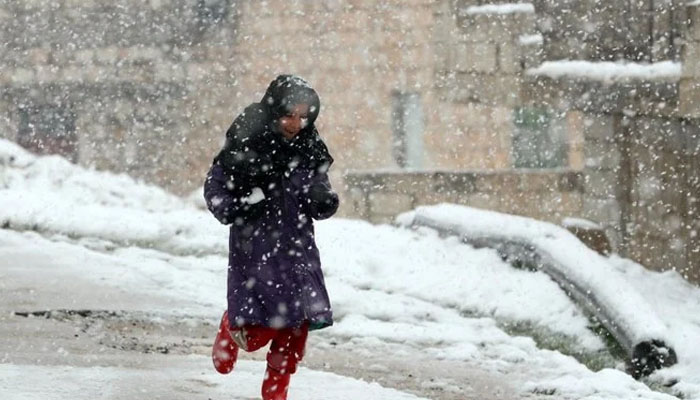بیت المقدس میں شدید برف باری