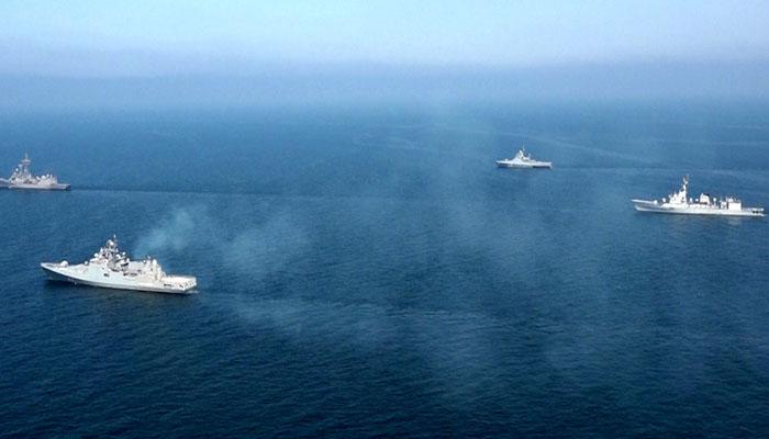 پاکستان نیوی کا روس اور سری لنکا کی افواج کے ساتھ بحری مشقوں کا انعقاد