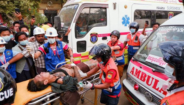 میانمار: ینگون سمیت کئی شہروں میں احتجاج، منڈالے میں پولیس فائرنگ، دو مظاہرین ہلاک
