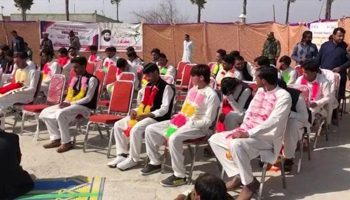 ضلع کرم، 50 جوڑوں کی اجتماعی شادی کی تقریب