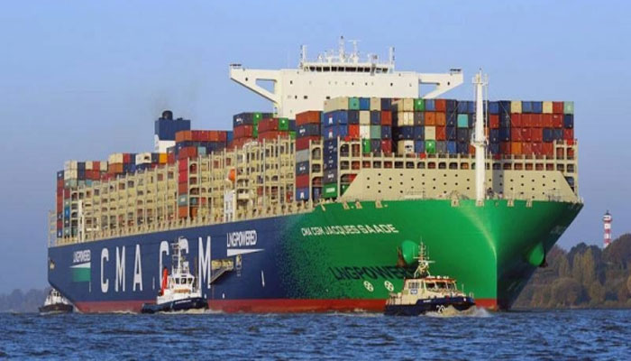 گیس سے چلنے والا دنیا کاسب سے بڑا بحری جہاز جدہ بندرگاہ پر لنگر انداز