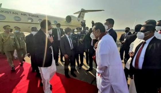 وزیراعظم عمران خان کولمبو پہنچ گئے