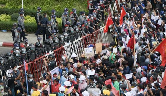 میانمار، فوجی بغاوت کیخلاف مظاہروں کاسلسلہ بدستور جاری