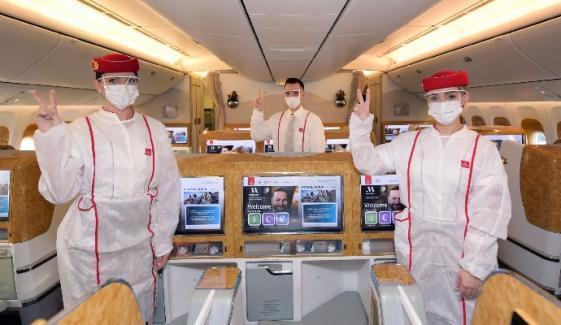 یو اے ای کی ایئر لائن کورونا ویکسی نیٹڈ کریو رکھنے والی پہلی ایئرلائن