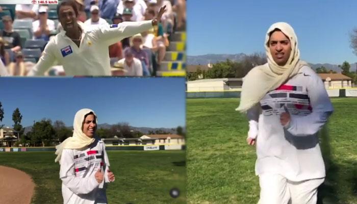 شعیب اختر کی ہمشکل خاتون کی شعیب اختر جیسی ویڈیو
