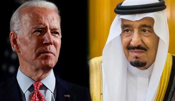 سعودی فرماں روا کی بائیڈن کو مبارک باد
