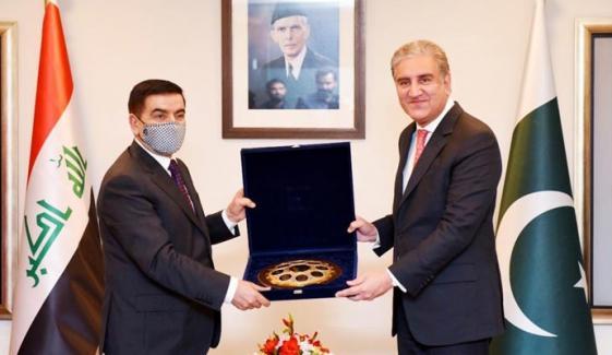 شاہ محمود قریشی سے عراقی وزیر دفاع کی ملاقات